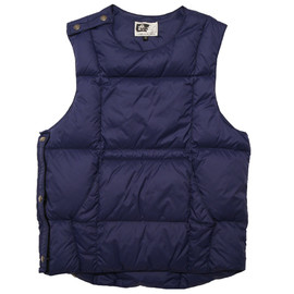 engineered garments - Down Body Vest Navy Nylon Taffeta