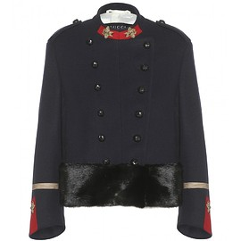 GUCCI - FW2015 Double-breasted appliquéd wool jacket