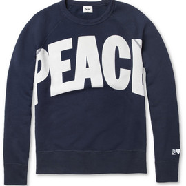Acne - College Peace Loopback-Cotton Sweater