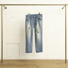 UNUSED - DAMAGED DENIM CROPPED PANTS (UW0443)
