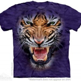 THE MOUNTAIN Tシャツ - THE MOUNTAIN Tシャツ/GROWLING BIG FACE TIGER/タイガービッグフェイスTシャツ