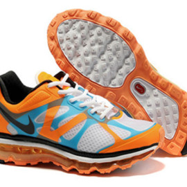 Mens Air Max 2012 Orange White Blue Black Shoes