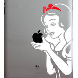 Snow White Apple iPad2 Sticker