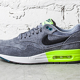 Nike - Air Max 1 PRM Grey/Volt