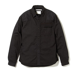 White Mountaineering - WASHED FADE HERRINGBONE GAUZE COMMANDO SHIRT