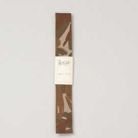 The Hill-Side - Hungarian Camoflage Print Tie - Khaki/Brown