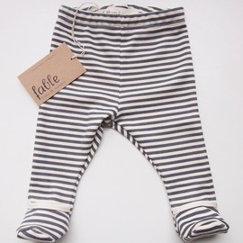 hand printed organic cotton unisex baby legging with bootie   fable baby