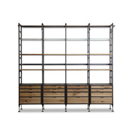 complex - ADNET WALL SHELF WITH 16 DRAWERS