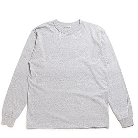 AURALEE - Soft Cord L/S Tee-Mix Top Gray