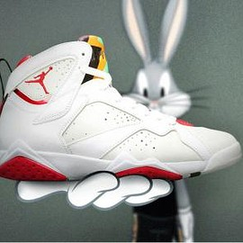 NIKE - NIKE AIR JORDAN 7 RETRO WHITE/TRUE RED-LIGHT SILVER-TOURMALINE