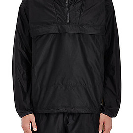 adidas - Day One Colorblocked Tech-Taffeta Half-Zip Windbreaker - Black
