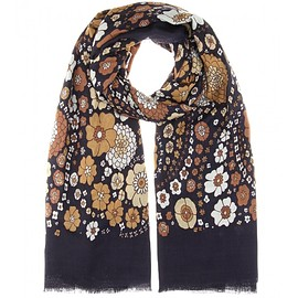 MARC JACOBS - Printed wool and silk-blend scarf