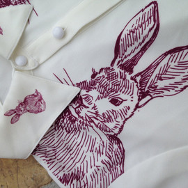 Vintage Mr. Rabbit Shirt White
