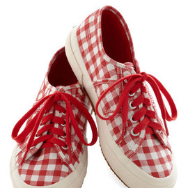 ModCloth - Picnic for One Sneaker in Red