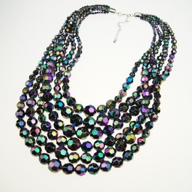 Europe and America new fashion exaggerated texture gorgeous necklace