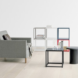 Ferdinand Kramer, e15 - re-editions of a chair, sofa, daybed and stackable side table