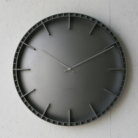 Brick Steel Clock - Black