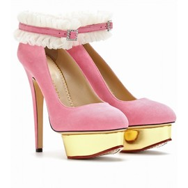 Charlotte Olympia - DOLLY PLATFORM PUMPS WITH RUFFLED ANKLETS