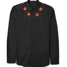 GIVENCHY - SLIM-FIT PRINTED COTTON SHIRT