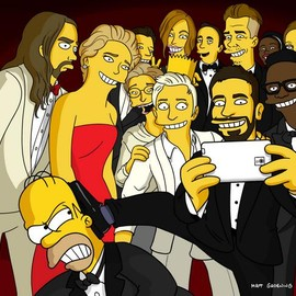 The Simpsons - the ellen show at oscar のパロディ | 60,525リツイートなり