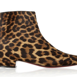 Christian Louboutin - leopard boots
