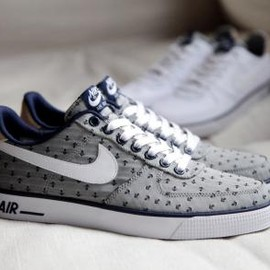 Nike - NIKE AIR FORCE 1 AC PREMIUM QS MIDNIGHT NAVY/WHITE-WHITE