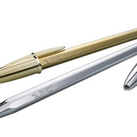 BIC - LIMITED EDITION BIC GOLD + SILVER PENS BALL POINT