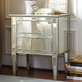 Pottery Barn - Park Mirrored Bedside Table