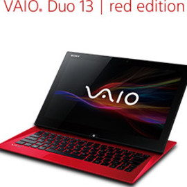 SONY - VAIO Duo 13   red edition