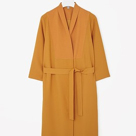 COS - Long blazer dress in Egg Yolk