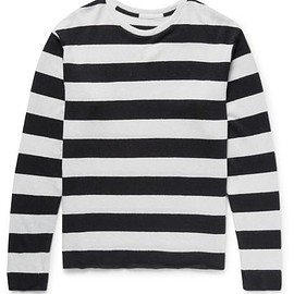 The Elder Statesman - Striped Cashmere and Linen-Blend Sweater