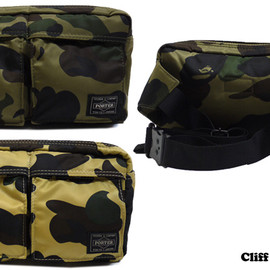 A BATHING APE - A BATHING APE x PORTER  PRINT 1ST CAMO HIP BAG [ウエストバッグ]  【新品】