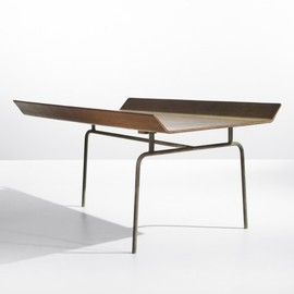 CHARLES AND RAY EAMES - prototype three-legged tray table  Evans Products
