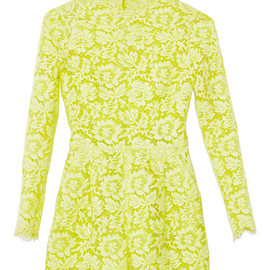 VALENTINO - Citron Heavy Lace Jumpsuit