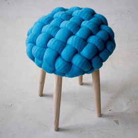 Claire.Anne.O'Brien - stool : Heavy Knits for Interior Design