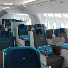 Hella Jongerius for KLM - World Business Class cabin