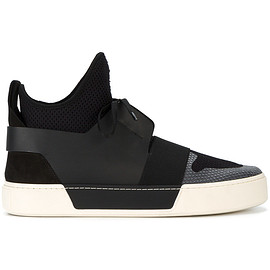 BALENCIAGA - Hi-top panelled sneakers