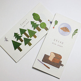 西淑 nishi shuku 一筆箋 BREAD/FOREST