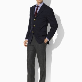 Polo Ralph Lauren  - Three-Button Navy Blazer