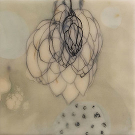 Stephanie Hargrave - April, encaustic on birch