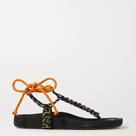 Isabel Marant - Loreco leather-trimmed braided sandals(SS2020)