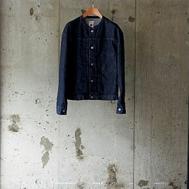 marka - COLLARLESS DENIM JACKET