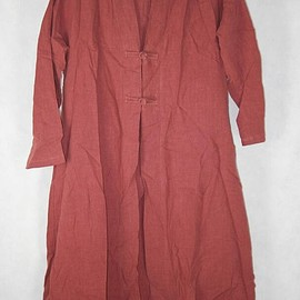 large size gown - Womens top brick red long shirt large size gown Loose shirt