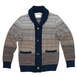 White Mountaineering - Snow Pattern Jacquard Knit Cardigan