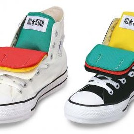 CONVERSE - CONVERSE ALL STAR QD-TONGUE HI WHITE & BLACK