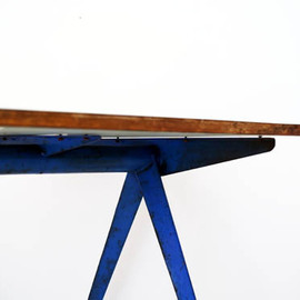 jean Prouve - Blue Compass Table, 1953