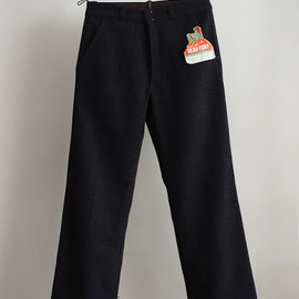 LILY1ST VINTAGE - 1940's deadstock french tweed work pants