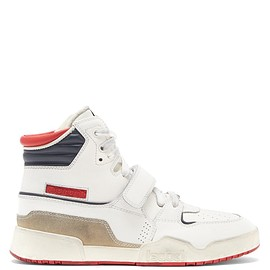 Isabel Marant - Alsee high-top distressed-leather trainers