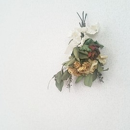 min arbetsyta - dried flower bouquet