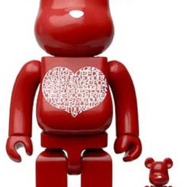 MEDICOM TOY - Alexander Girard International Love Heart Be@rbrick 400% & 100%